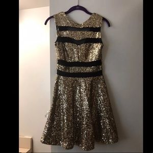 ASOS Gold Sequin Party Dress